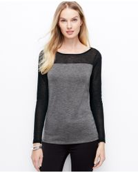 Ann Taylor Colorblock Sweater Jersey Top - Lyst