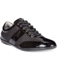 Armani Jeans Patent Low Top Sneakers - Lyst