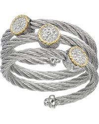 Charriol Diamond Wraparound Cable Ring Size 65 yellow - Lyst