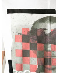 Andrea Pompilio - Feather Print T-shirt - Lyst