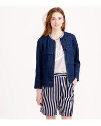 J.Crew Collection Stripe Silk Short - Lyst