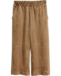 H&M Wide Trousers - Lyst