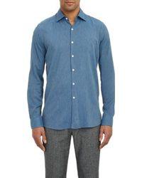 Piattelli Blue Chambray Shirt - Lyst