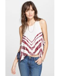 Free People 'Touch Of Love' Side Tie Top - Lyst