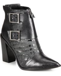 Tibi Piper Leather Ankle Boots - Lyst