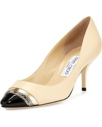 Jimmy Choo Laden Captoe Combo Pump - Lyst