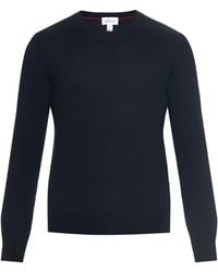 Brioni Wool, Silk And Cashmere-Blend Sweater blue - Lyst