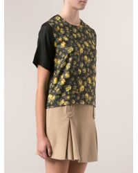 Band Of Outsiders Flower Print Tshirt - Lyst
