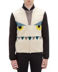 Fendi Monster Face Shearling Jacket - Lyst