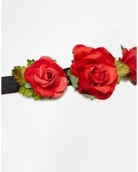 Asos Rose Ribbon Tie Headband - Lyst
