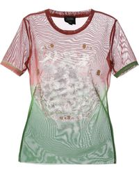 Jean Paul Gaultier Multicolor Sheer Tshirt - Lyst
