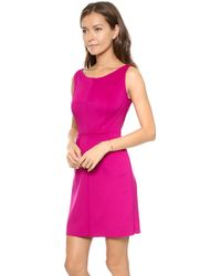 Milly Neoprene Dress Raspberry - Lyst