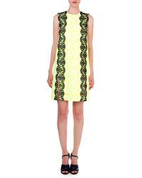 Christopher Kane Floral-Print Lace-Trim Sheath Dress - Lyst