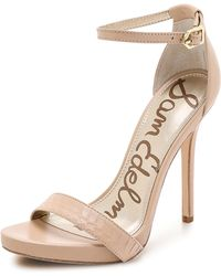 Sam Edelman Eleanor Ankle Strap Sandals - Buff Nude - Lyst