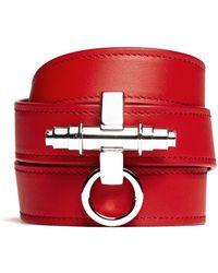 Givenchy Obsedia Triple Wrap Leather Bracelet - Lyst