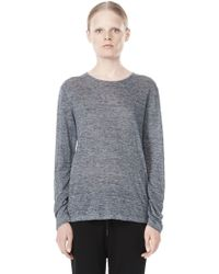 Alexander Wang Heather Linen Long Sleeve Tee - Lyst