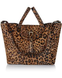 Meli' Melo' Cheetah Haircalf Black Leather Thela Lux Bag - Lyst