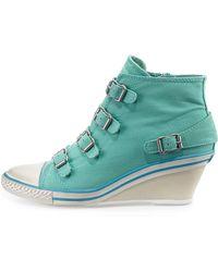 Ash Genialbis Buckled Wedge Sneaker - Lyst
