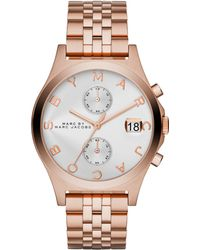 Marc By Marc Jacobs Slim Chrono Rose Goldtone Stainless Steel Chronograph Bracelet Watch - Lyst