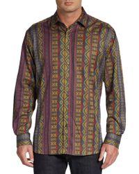 Etro Aztec Print Sportshirt - Lyst