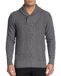 Saks Fifth Avenue Black Label - Cashmere Cable-Knit Sweater - Lyst