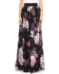 Milly Katie Ball Maxi Skirt  - Lyst