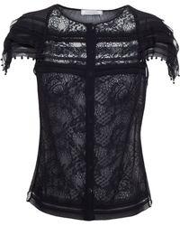 Nina Ricci Beaded Silk Lace Top - Lyst