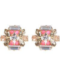 River Island Purple Gem Stud Earrings - Lyst