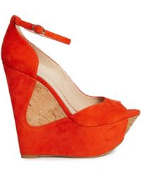 Asos Pose Suede Wedges - Lyst