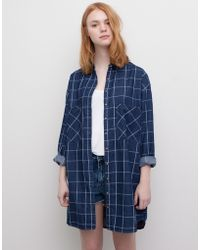 Pull&Bear Check Print Shirt-Style Dress - Lyst