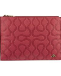 Vivienne Westwood | Squiggle Embossed Leather Pouch | Lyst