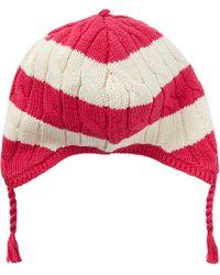 Ralph Lauren Rugby Stripe Earflap Hat - Lyst