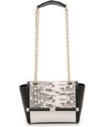 Diane von Furstenberg 440 Embossed Crosstown Mini Bag - White/Black - Lyst
