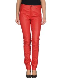 Diesel Casual Trouser red - Lyst