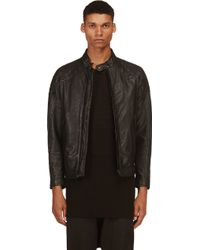 Diesel Black Leather Quilted Laleta Jacket - Lyst