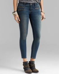 Free People Jeans Zip Ankle Crop in Kelp - Lyst