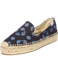 Soludos Wren Platform Smoking Slipper blue - Lyst