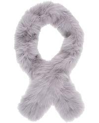 Barneys New York Gray Fur Scarf - Lyst