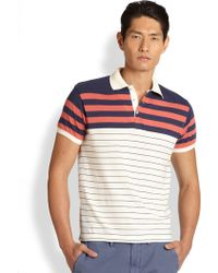 Gant Rugger Striped Polo Shirt - Lyst