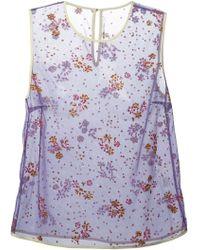 Mary Katrantzou Floral Embellished Tank - Lyst