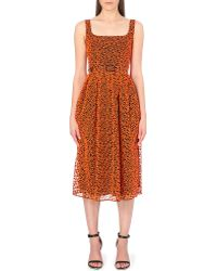 Christopher Kane Broderie Anglaise Midi Dress - Lyst