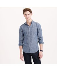 J.Crew Slim Chambray Shirt in Dot - Lyst