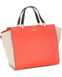 Kate Spade Hayden Leather Tote - Lyst