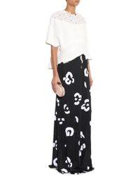 Issa Karen Brushstroke-Print Maxi Skirt - Lyst