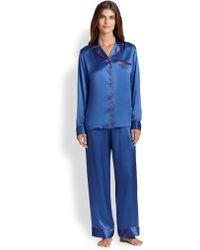 La Perla Dolce Silk Pajamas - Lyst
