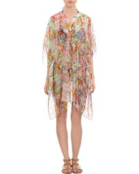 Saloni Pink Jungle-Print Kaftan - Lyst