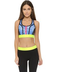 b7966f20ee Lyst - Monreal London Signature Sports Bra in Blue