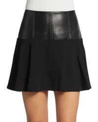Tibi Textured Yoke Ponte Skirt - Lyst