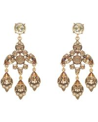 Oscar de la Renta Swarovski Crystal Chandelier Earrings - Lyst