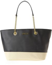 Kenneth Cole Reaction Black  Linen Multiplier Chain Shopper - Lyst